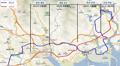 국도 2호선 광양 중군-진정 19일 개통(위치도)-도로과.png